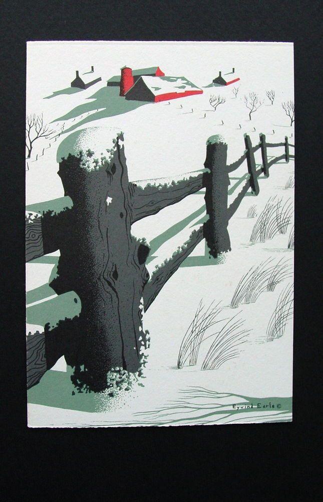 Serenity of Winter ~ Eyvind Earle ~ Unused Christmas Greeting Card ~ Stunning | Artwork painting ...