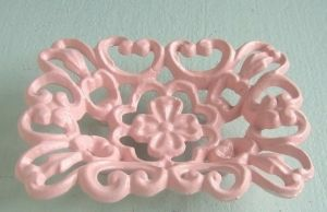 Shabby Pink Cast iron Soap Dish
