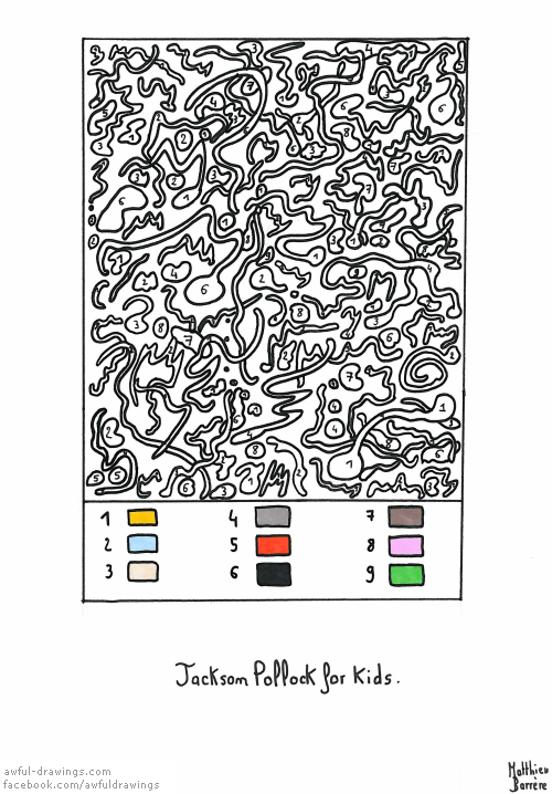 Jackson Pollock for kids   Coloring, Jackson pollock and Awesome