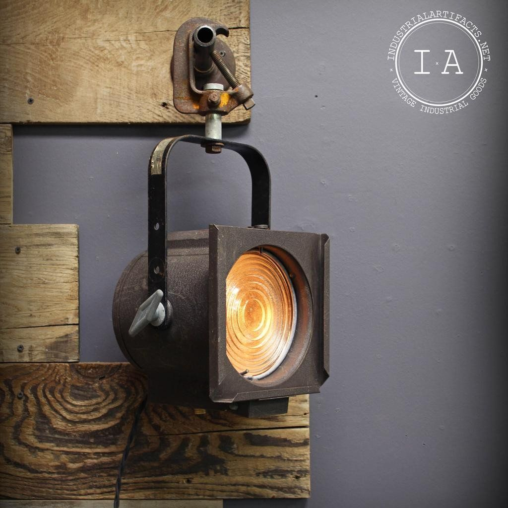 Light Fixtures Rochester Ny: Vintage Industrial Theater Spot Light Track Lighting
