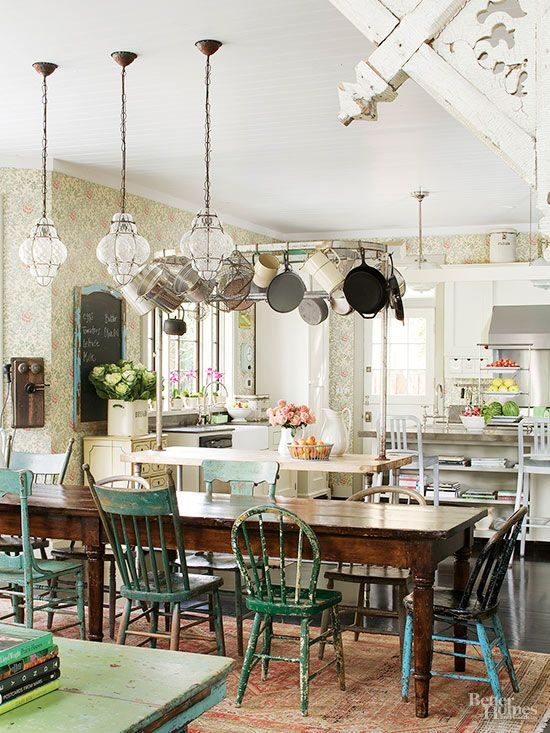 English Cottage Style For Your Inner Austen English Cottage Style Country Kitchen Green Painted Furniture