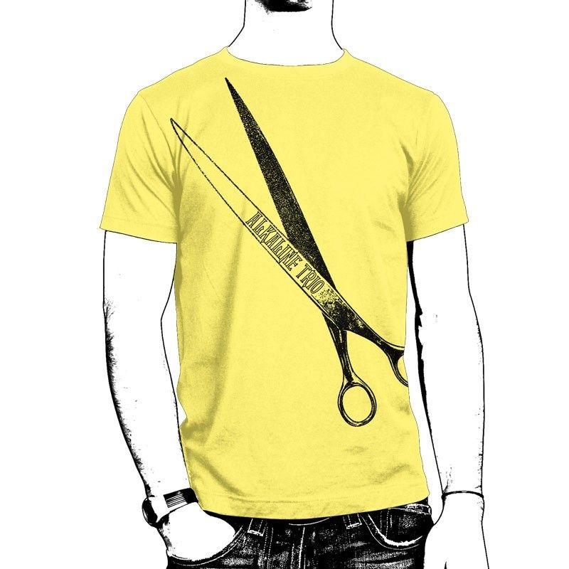 Alkaline Trio | Alkaline Trio - Yellow Scissors T-Shirt, Gold