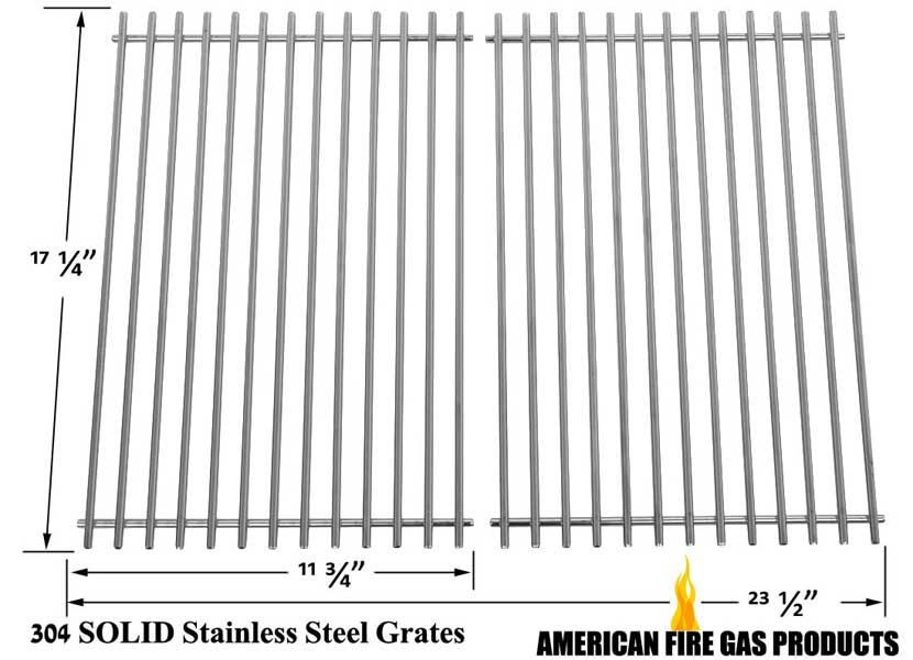 2 Pack Replacement Solid Stainless Steel Cooking Grid For Weber Genesis 7526 7525 7527 9869 Genesis 1000 350 Cooking Replacements Gas Grill Bbq Accessories