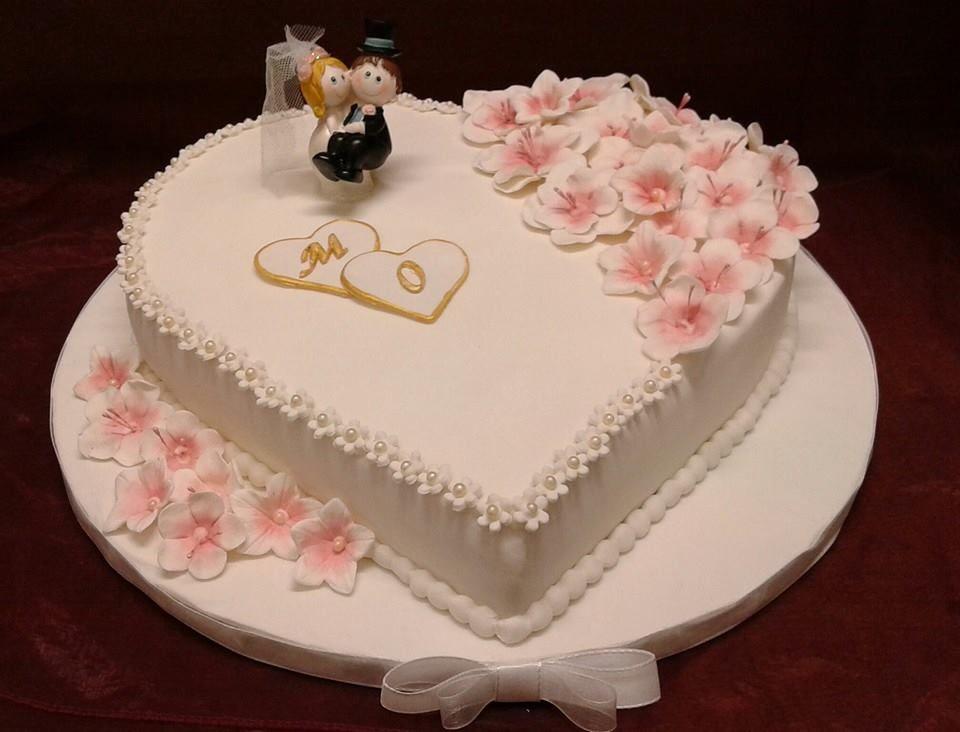Pasticceria Cake Design Viterbo : Torta di Matrimonio decorata cake design Pasticceria ...