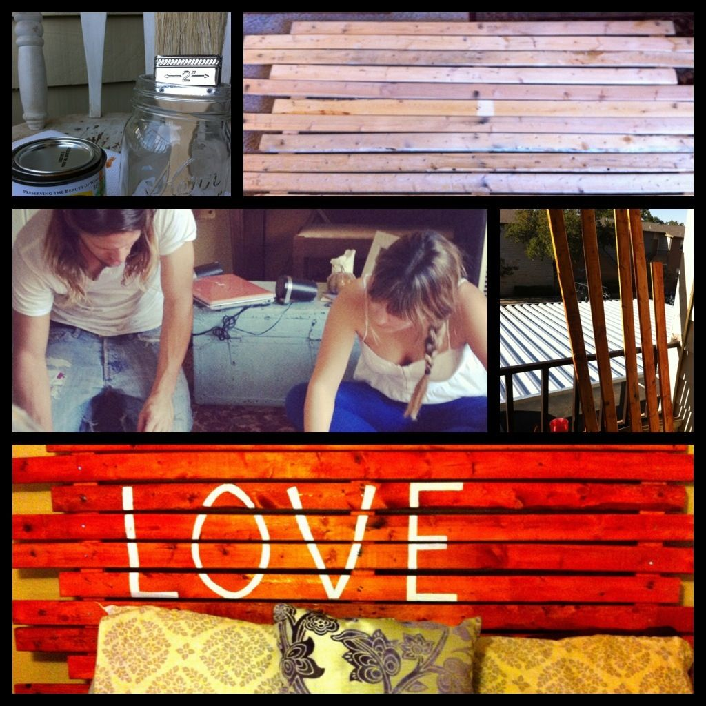 DIY headboard! Billy and I had so much fun doing this