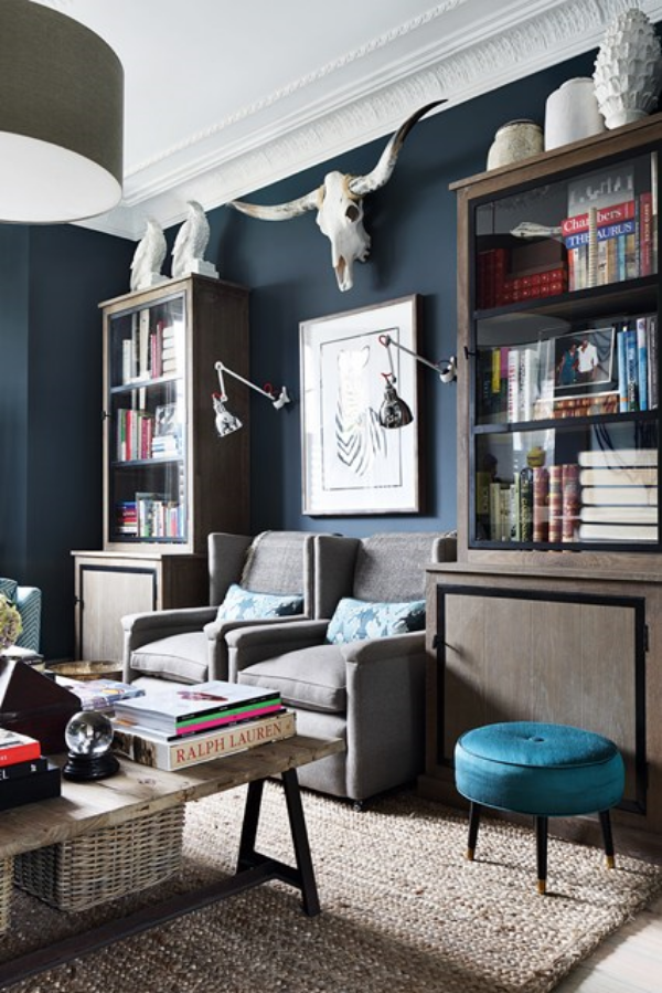 Living Room Study: A Traditional Masculine Southern Study
