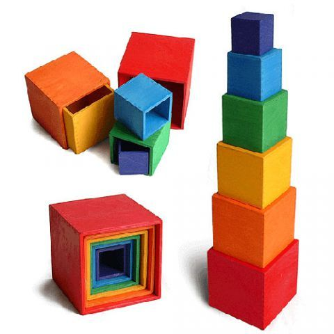 NEW #1 Alphabet Nesting Baby Stacking Building Blocks