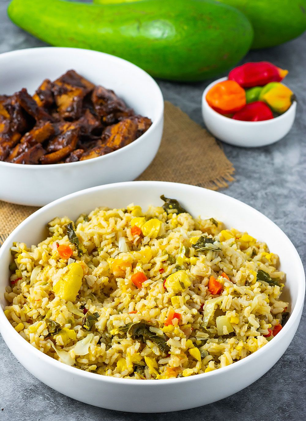 Jamaican Seasoned Rice - Healthier Steps #seasonedricerecipes