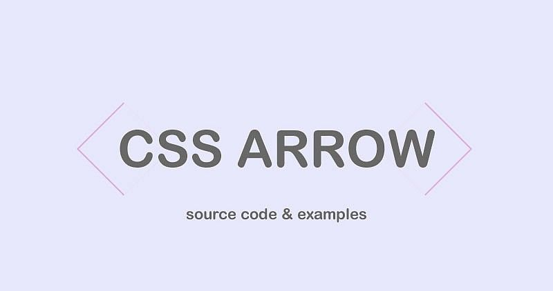 Curated Collection of free HTML and CSS arrow source code examples