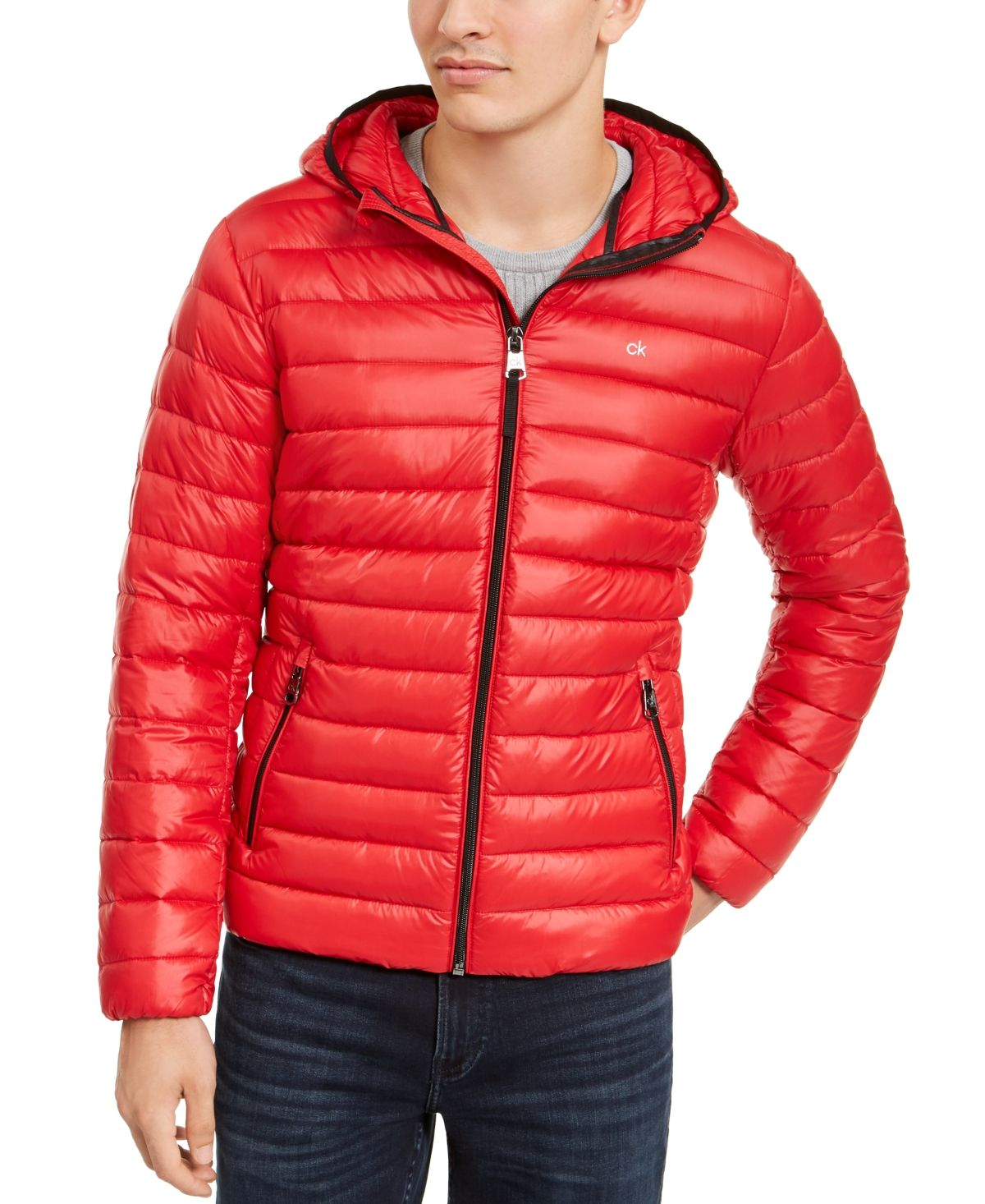 Calvin Klein Men S Packable Down Hooded Puffer Jacket Created For Macy S Reviews Coats Jackets Men Macy S Calvin Klein Men Calvin Klein Jackets [ 1466 x 1200 Pixel ]