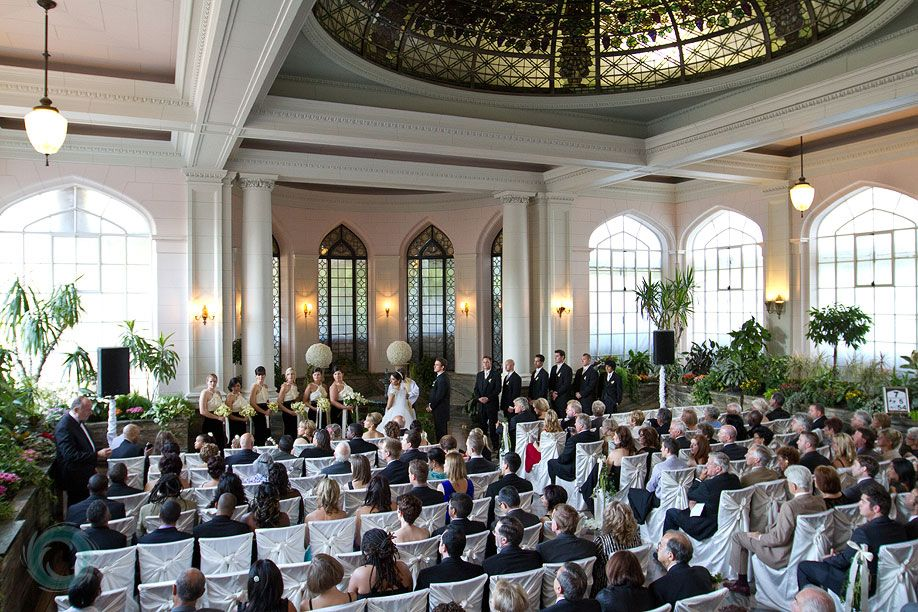 Wedding Ceremony In The Conservatory At Casa Loma Toronto