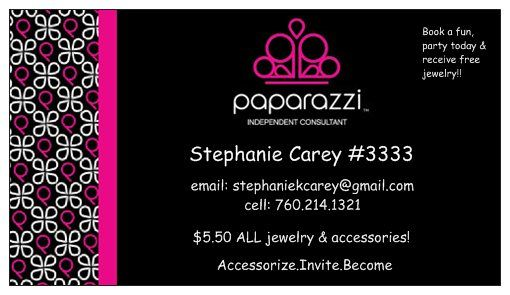 Vistaprint Business Cards Postcards Invitations More Jewelry Business Card Paparazzi Jewelry Business