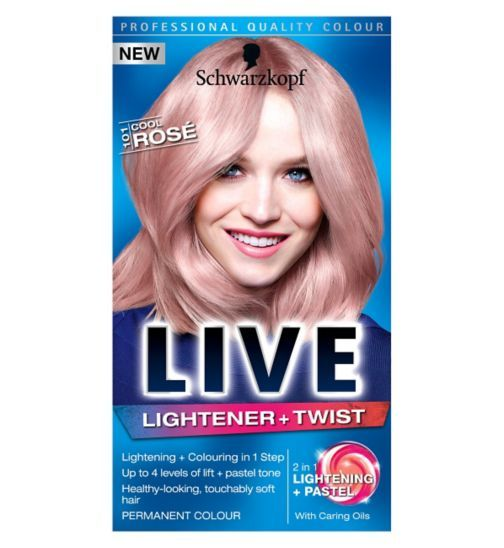 Schwarzkopf LIVE Lightener + Twist 101 Cool Rosé Hair Dye | For Me ...