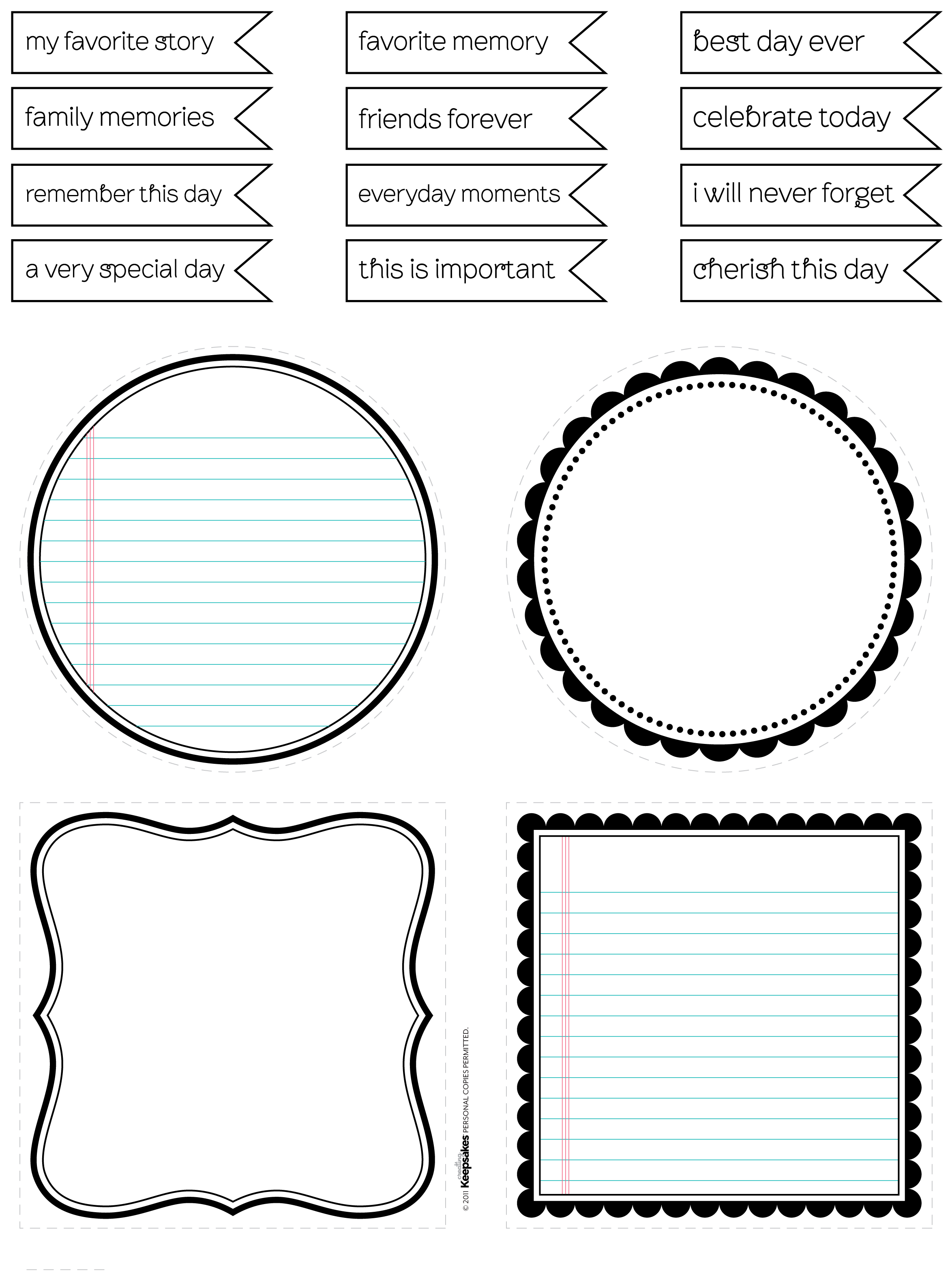 Free Journaling Spots (in black/brown ... PDF/PSD) by Nicole ...