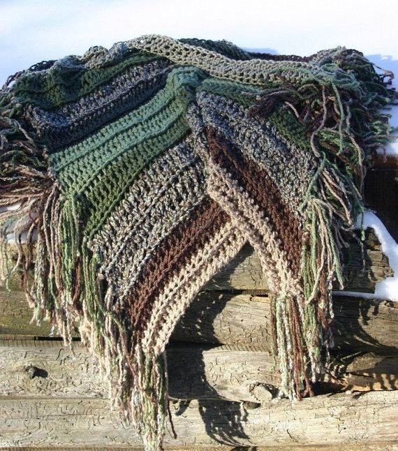 Afghan Earth Tones Throw Home Decor Green Brown Taupe ...