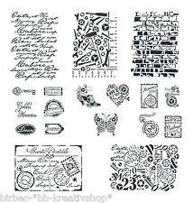 VIVA DECOR Schablone DIV GRÖSSEN Stencil Textil Wand VINTAGE STEAMPUNK H