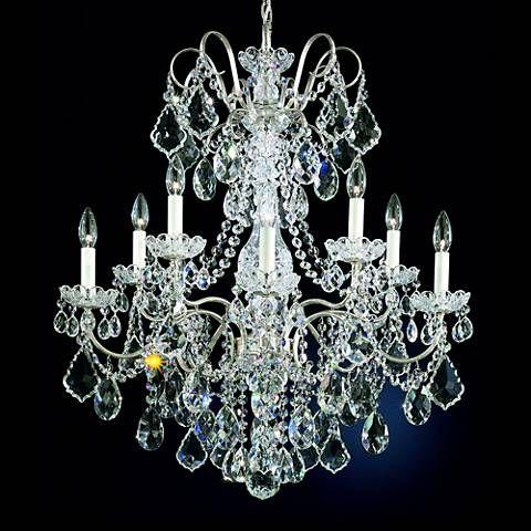 Schonbek new orleans 28w silver hand cut crystal chandelier schonbek new orleans 28w silver hand cut crystal chandelier 46697 aloadofball Images