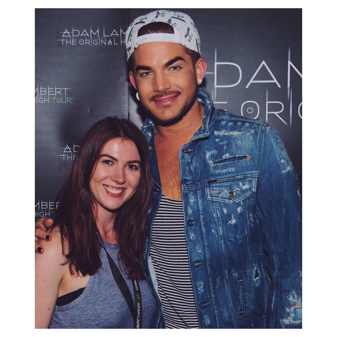 01/25/16 stephaniepaigex after 6 years, i finally met my favourite person in the whole world yesterday and i'm very happy about it.  #adamlambert #concert #meetandgreet