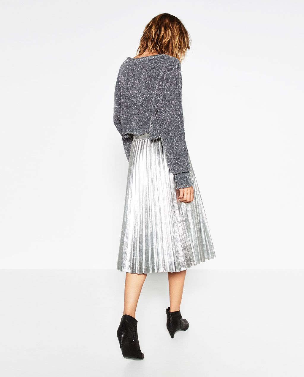 Image 1 of SHINY CROPPED SWEATER from Zara | It's time to play ...