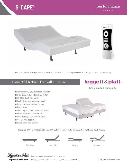 Fashion Bed Group 4aq169 S Cape Adjustable Platform Base With Gray