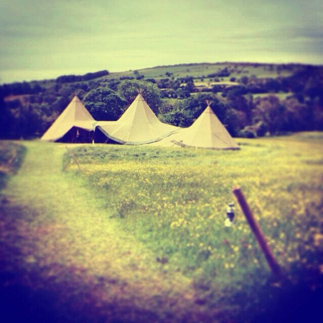 Two giant kata tipis and a Kungs chillout tipi  #tipis #teepees #tipiwedding #teepeewedding #midlands #tipihire #derbyshire #marquee #peaktipis #outdoorwedding