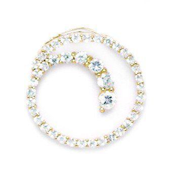 14k Yellow Gold CZ Circle Pendant - Measures 20x20mm - 20 Inch - JewelryWeb JewelryWeb. $217.50