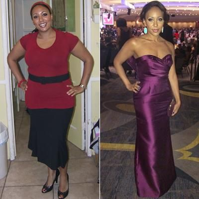 Weight loss before and after 50 year old woman