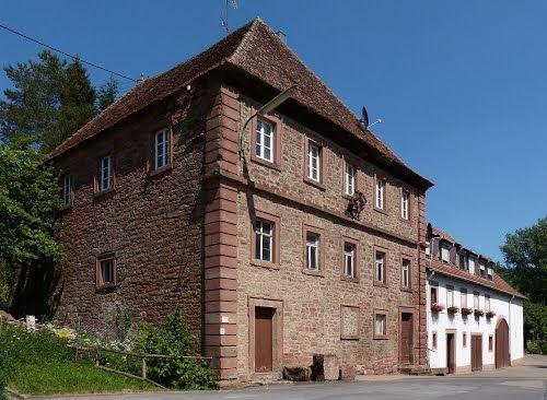 Klostermühle, 1730, mit Wirtschaftsanbau.