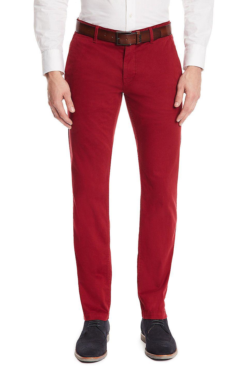 slim fit stretch chino pants