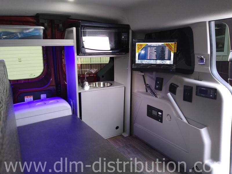 2020 Mini T Camper Van Garageable Transit Connect Campervan Tv Dvd