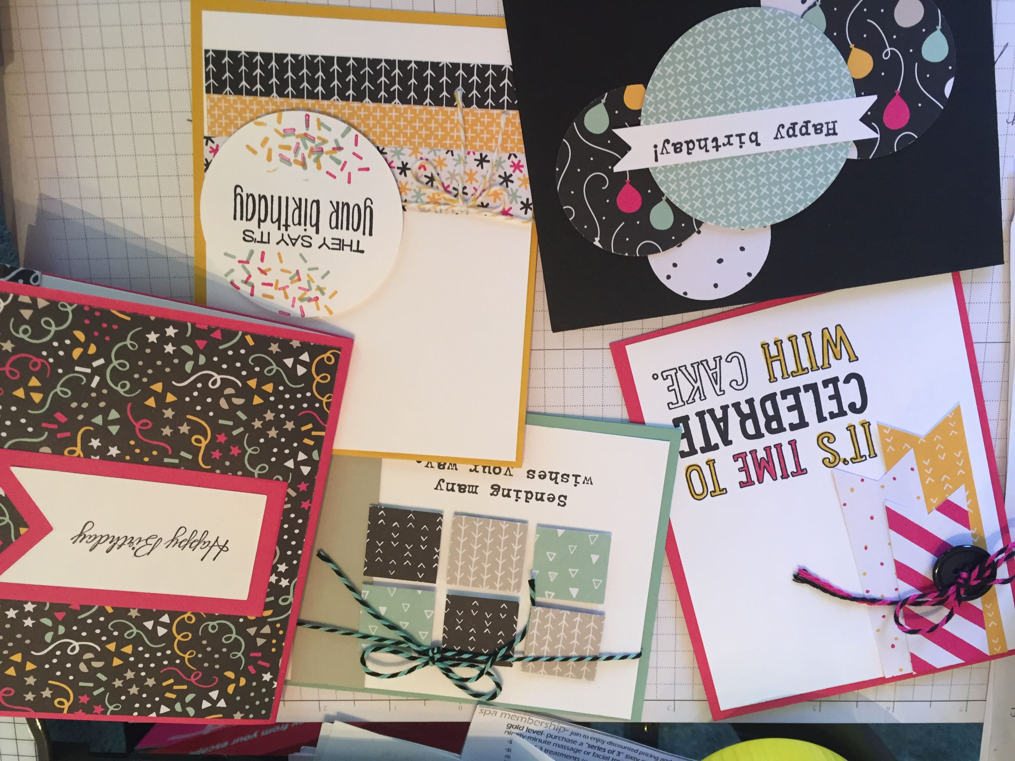 Stampin Up! Party With Cake! (Thanks Monika Davis for the inspiration & class)