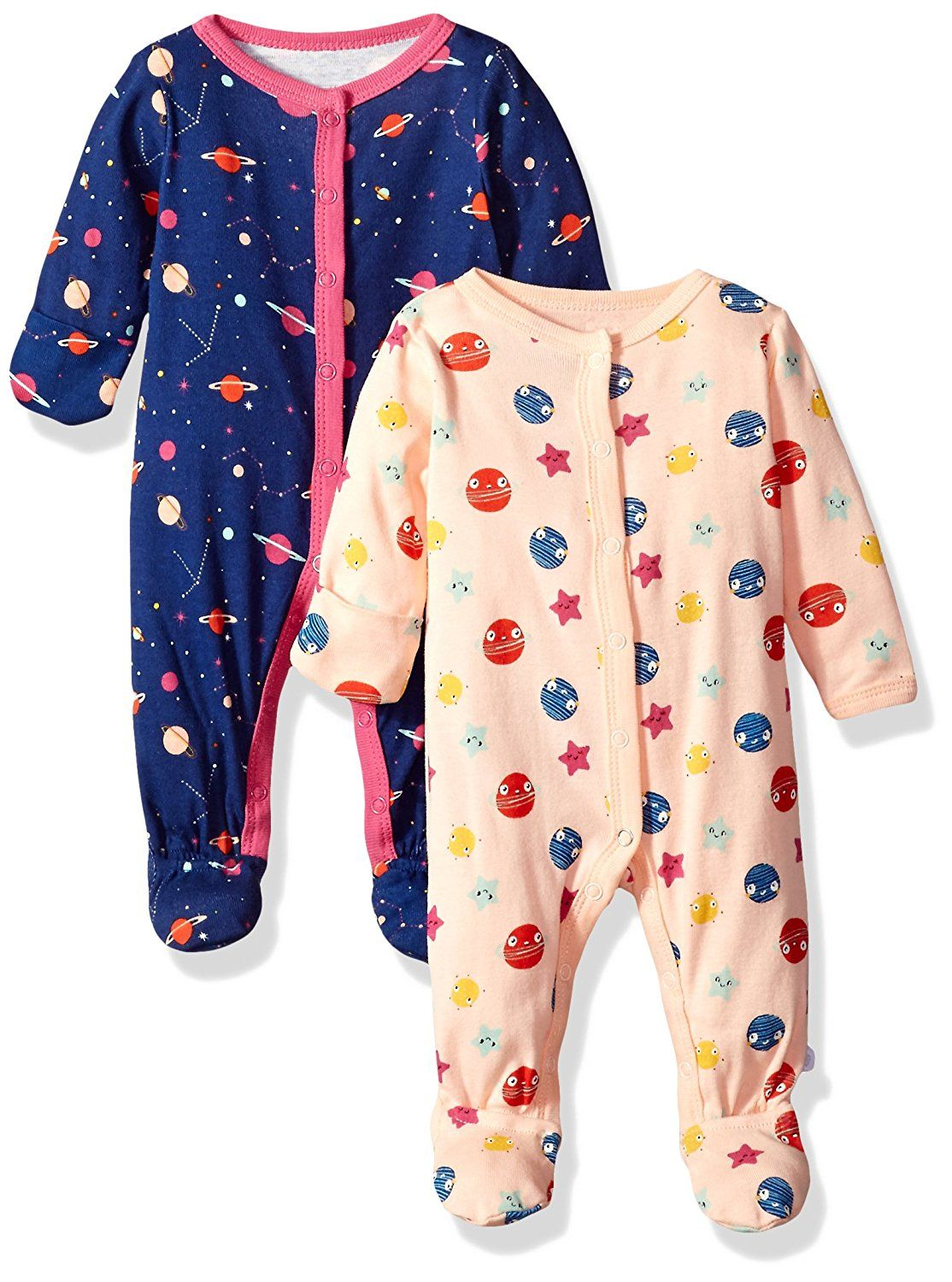 d6f6f71cf24c PAJAMAS WITH MITTENS! Amazon.com  Rosie Pope Baby Girls 2 Pack ...