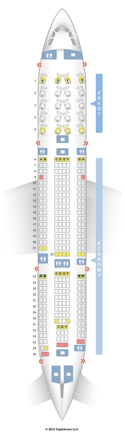 SeatGuru Seat Map US Airways Airbus A US Airways - Us airway map