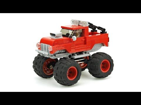 Lego Monster Truck Moc Building Instructions Youtube Lego