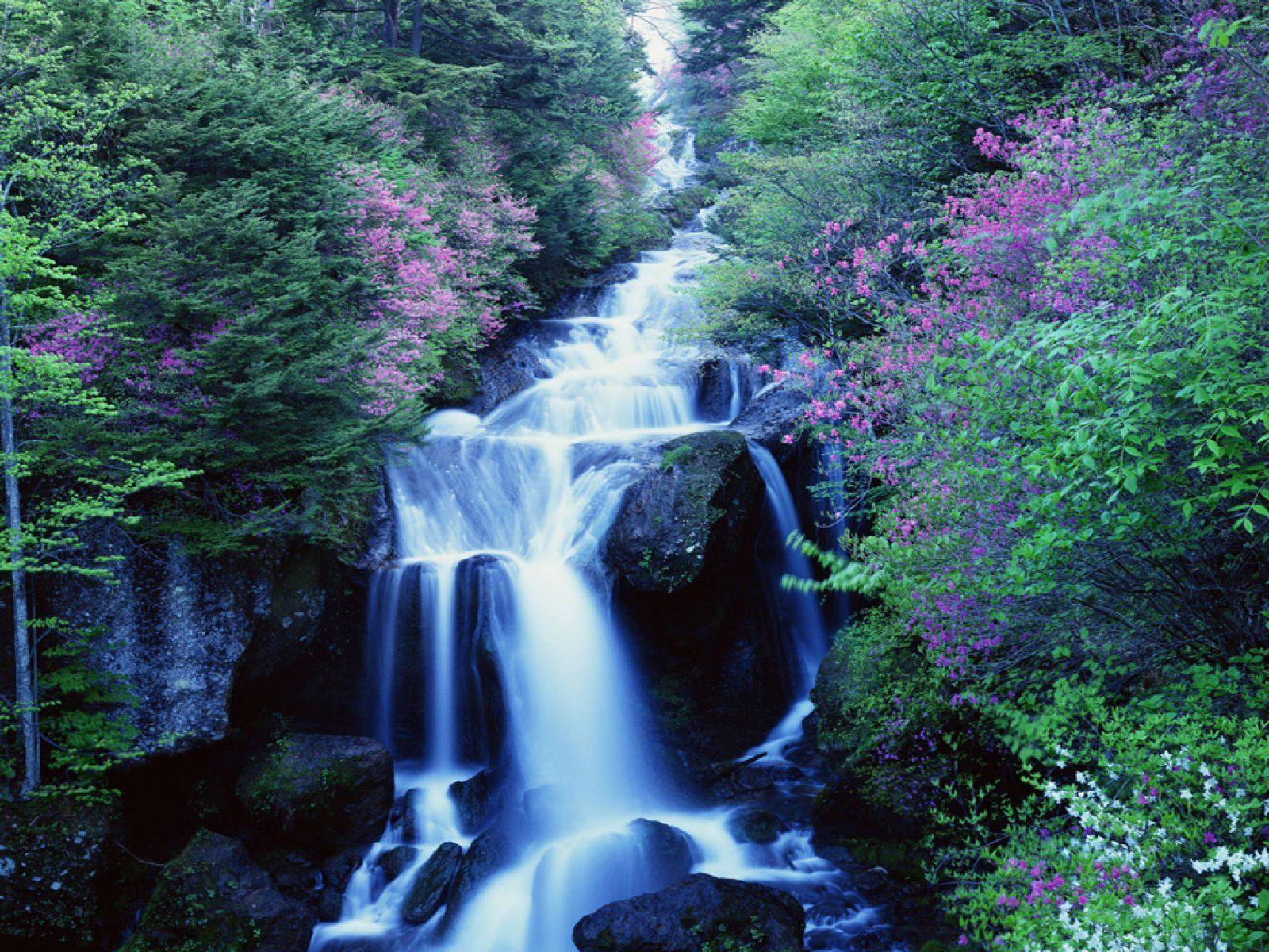 waterfalls pictures for screensavers free blue waterfalls nature vistas computer desktop wallpapers