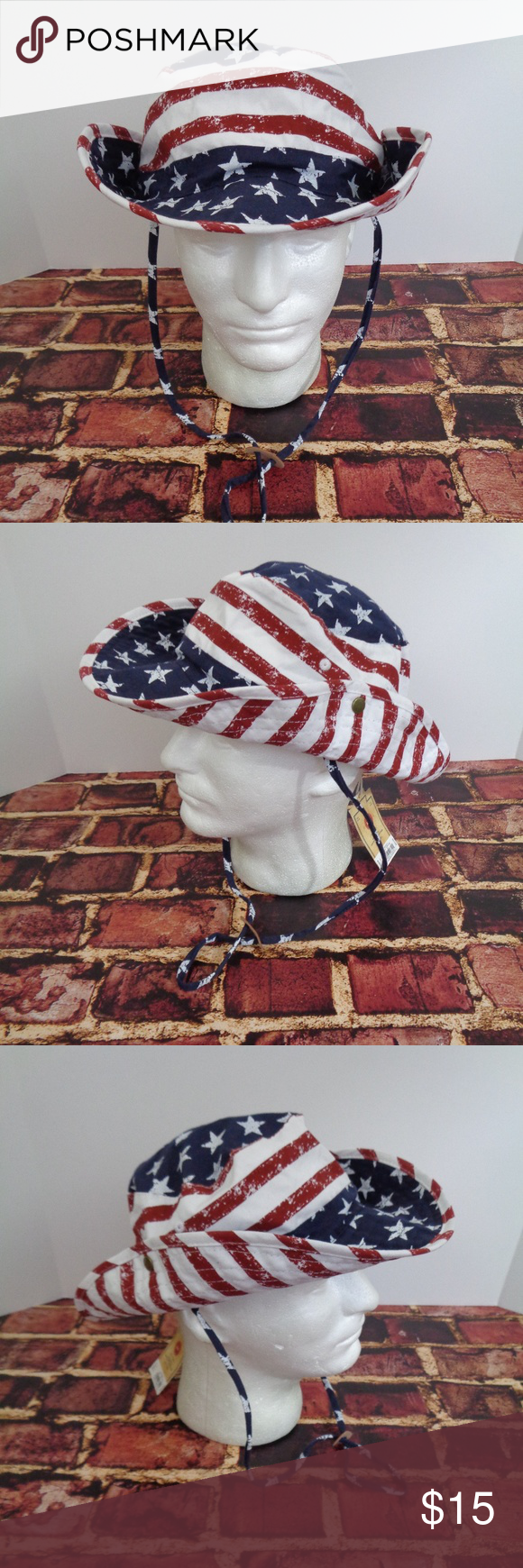 e3026cefef9 Urban Pipeline USA Flag Bucket Floppy Hat L XL This is a new with tags