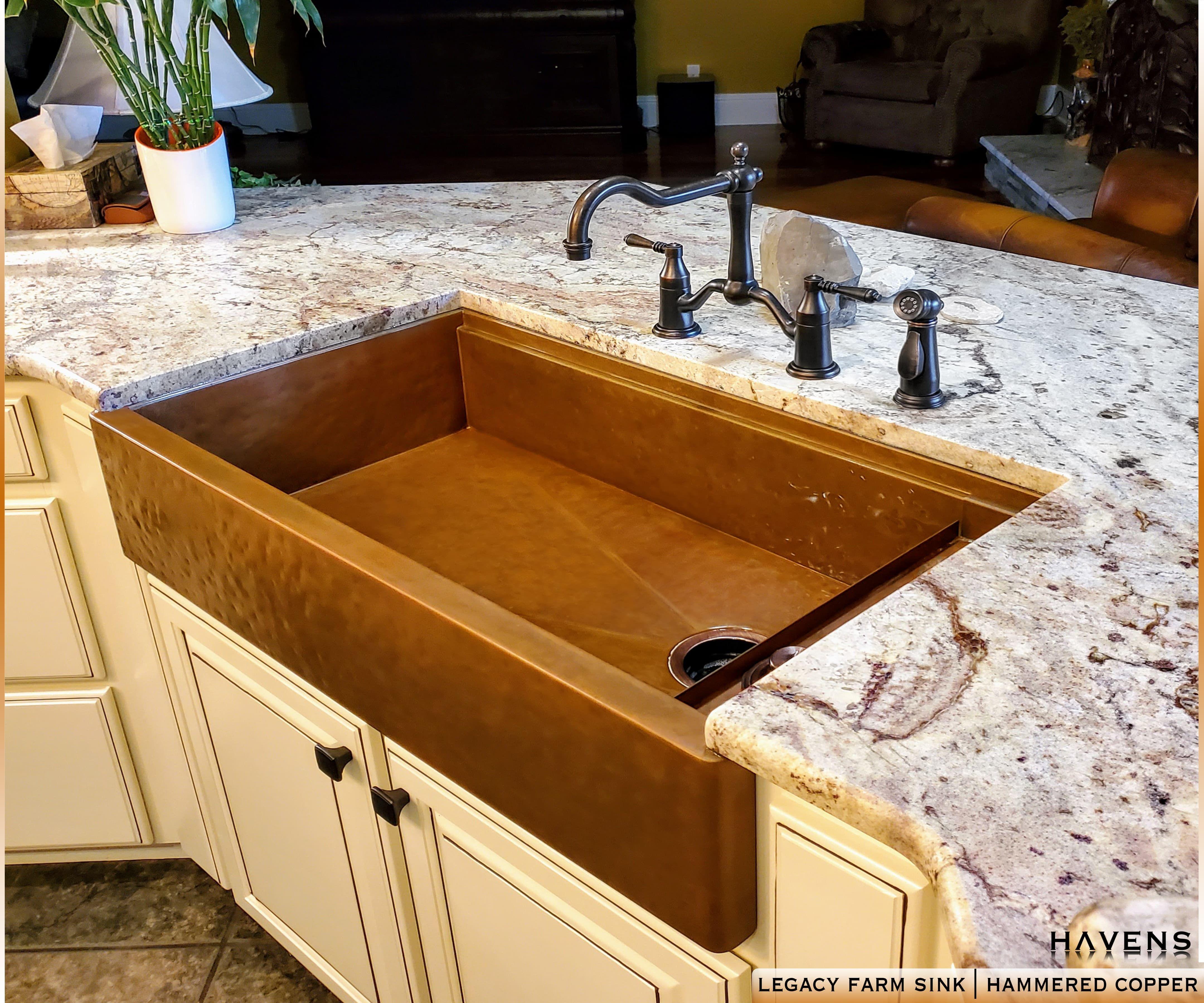 Hammered Copper Farmhouse Sink Havensmetal Com Havensgallery Com Copper Farmhouse Sinks Farmhouse Sink Sink