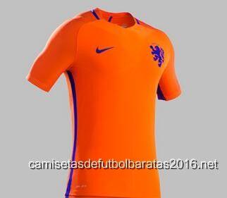 Comprar replicas camisetas de fútbol baratas 2016   Camiseta Holanda  2016-2017  73a7ff23ac288