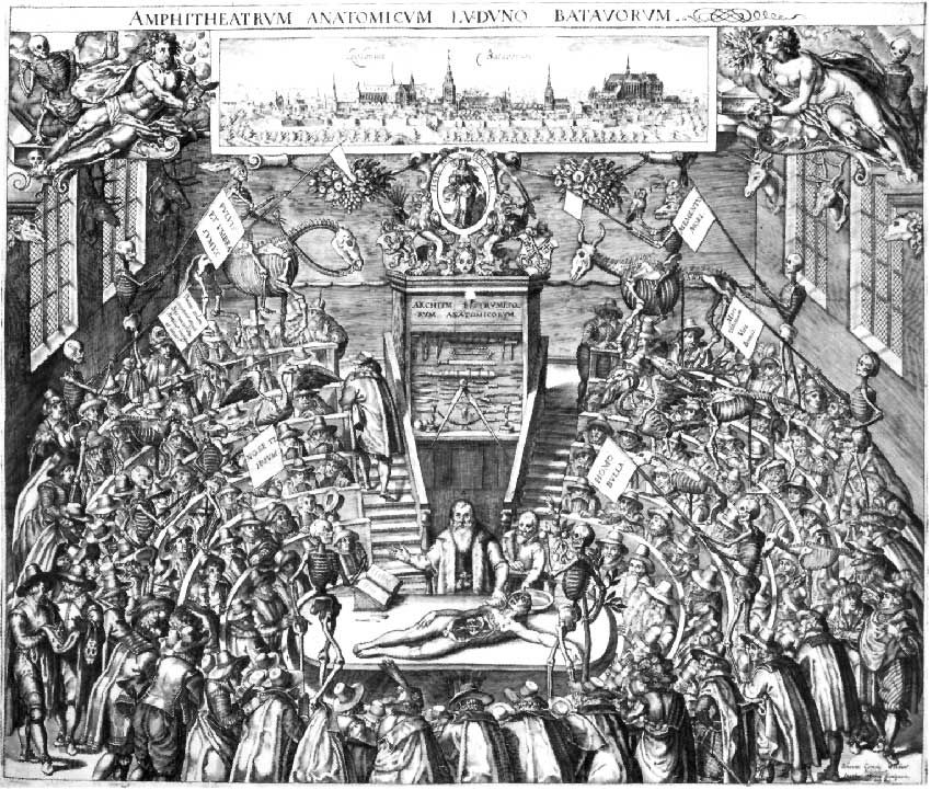 1609--Leiden Anatomy Theater, depicting a dissection | Art