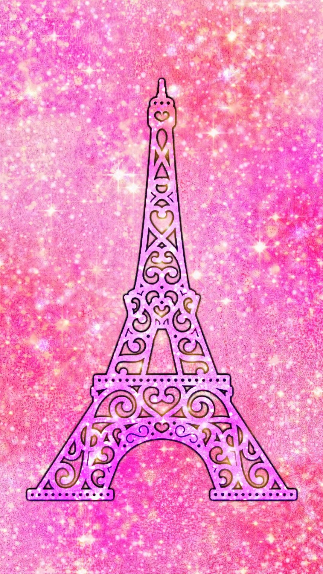 Pretty Pink Paris Made By Me Paris Pink Wallpapers Glitter Sparkles Backgrounds Eiffeltower Pink Wallpaper Pink Wallpaper Home Glitter Phone Wallpaper