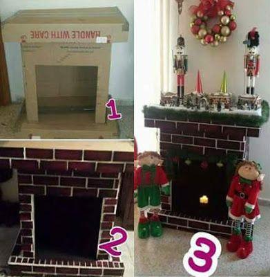 Manualidades y creaciones elabora una chimenea navide a for Como construir una oficina