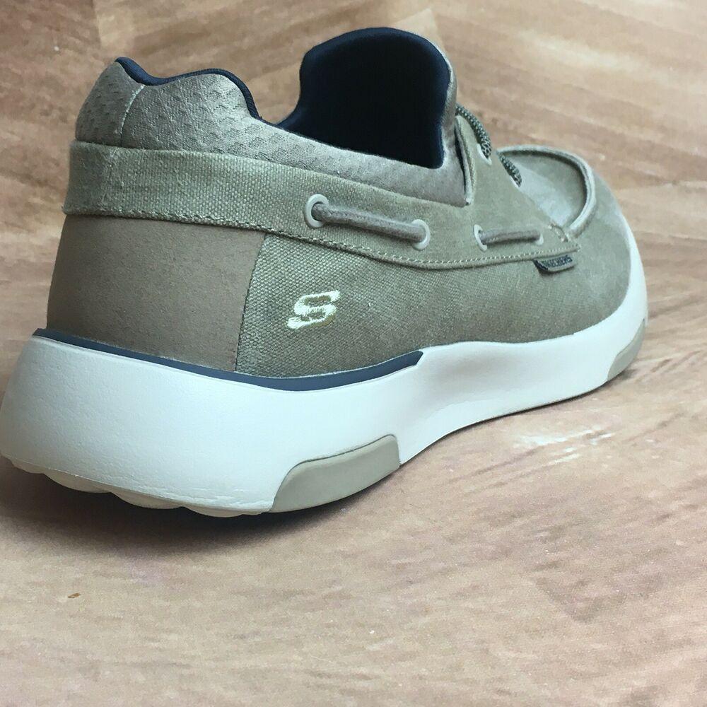 Skechers Men S Bellinger Garmo Boat Shoe Size 11 5 Wide Fit Memory