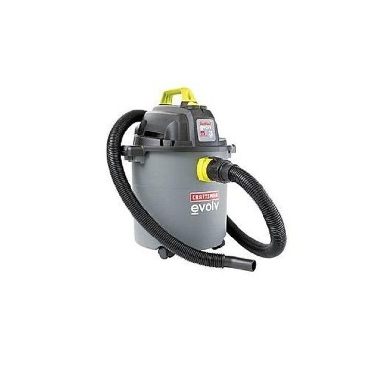 Wet Dry Vac Vacuum Shop 5 Gallon 3 Hp Peak Portable Blower