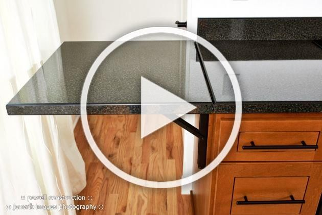 Fold Down Counter Attached To Bar