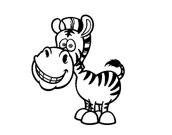 Dibujo De Cebra Sonriente Para Colorear Dibujo De Cebra Cebra Dibujos De Animales