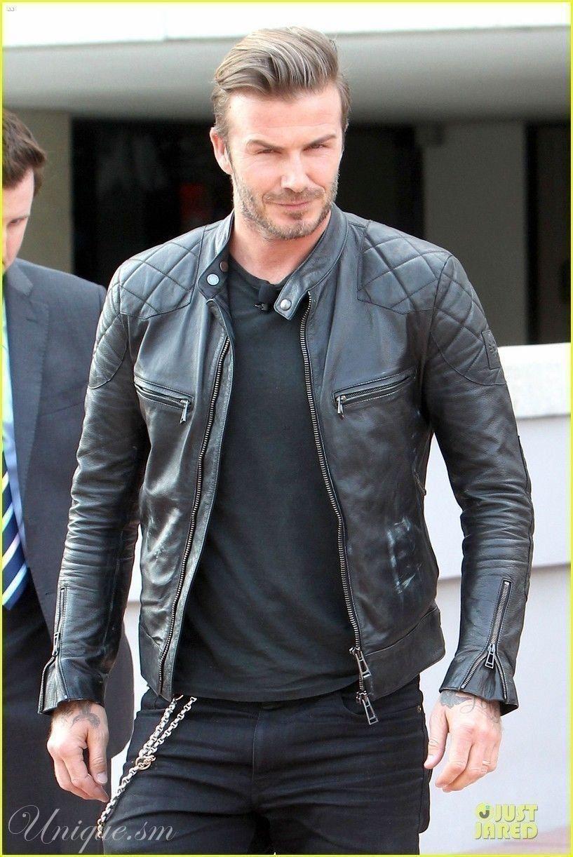 David Beckham Men S Black Genuine Lambskin Leather Biker Jacket Leather Jacket Black Leather Jacket Outfits Lambskin Leather Jacket [ 1222 x 817 Pixel ]