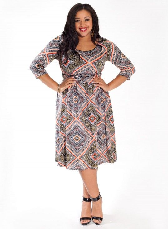 #plussize Corina Plus Size Dress in Sable Pastiche at Curvalicious Clothes #bbw #curvy #fullfigured #plussize #thick #beautiful #fashionista #style #fashion #shop #online www.curvaliciousclothes.com TAKE 15% OFF Use code: SVE15 at checkout