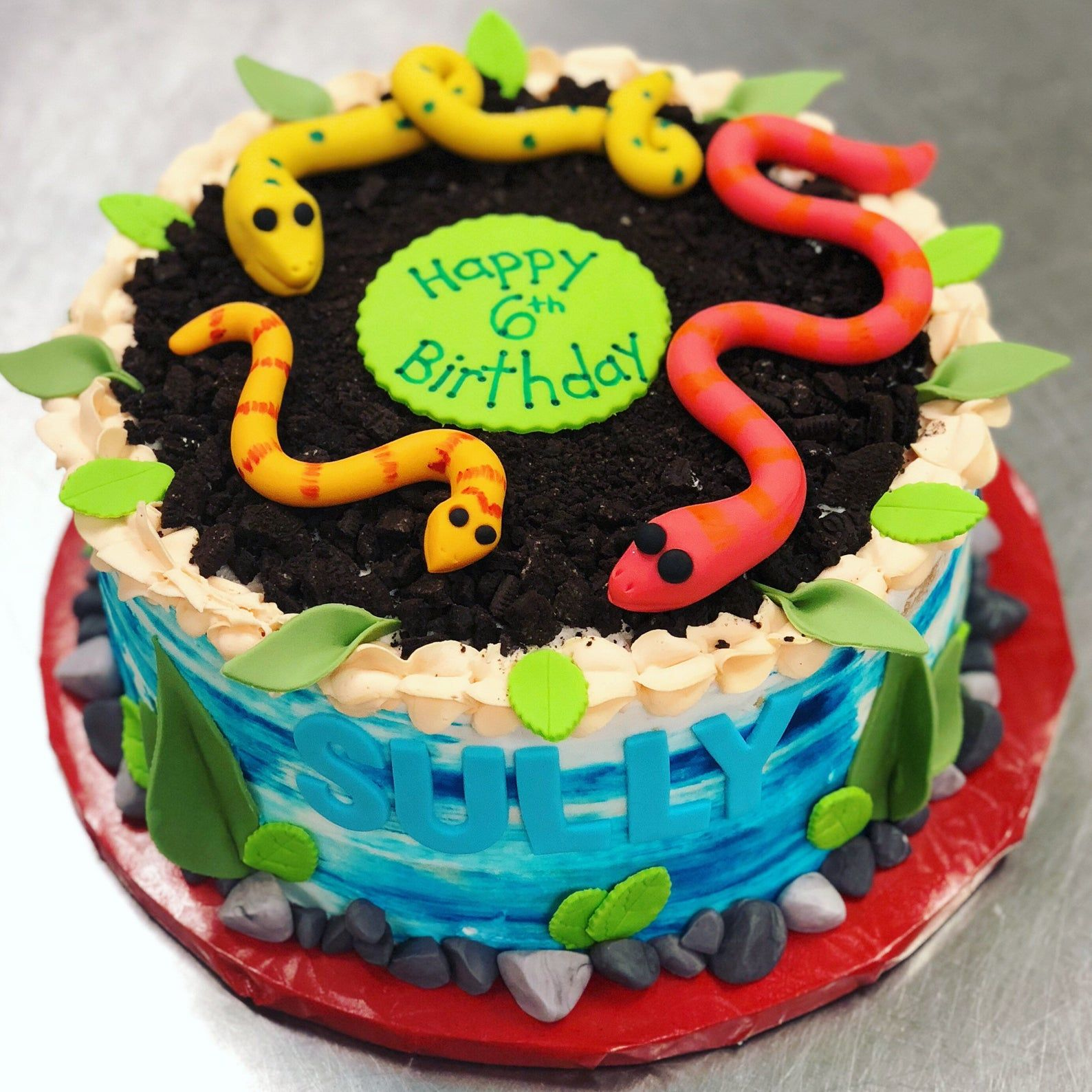 Astounding Snake Cake Toppers Snake Cakes Cake Cake Toppers Funny Birthday Cards Online Fluifree Goldxyz