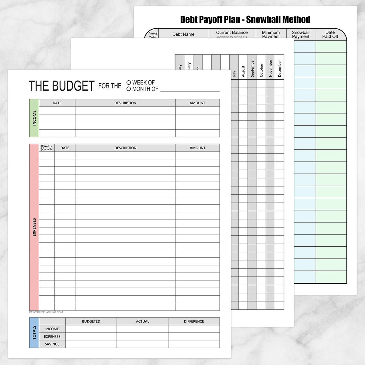 Printable Financial Bundle