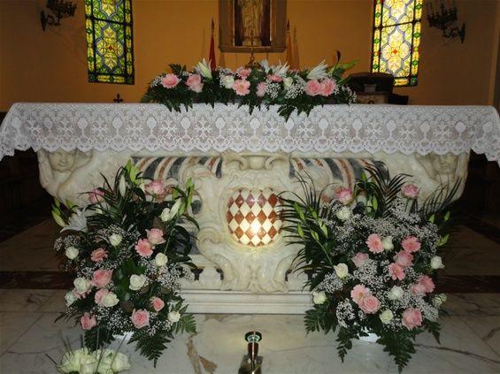 D coration autel glise mariage recherche google - Decoration champetre pour mariage ...